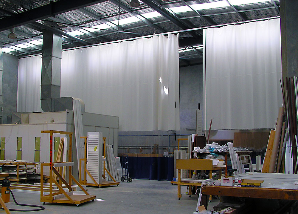 Wash Bay Curtains And Screens Preparation Areas Pvc
